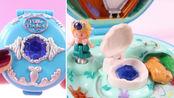 波莉口袋Polly Pocket蓝色项链盒子海洋帆船娃娃屋宝石故事