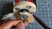 利用磁铁发电制作的台灯,没点物理知识根本看不懂
