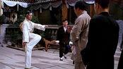 霍元甲死后倪师傅前来挑战,霍廷恩拍拍脚:下次不如我到贵馆拜访