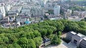 航拍湖北省宜昌市东山公园,从这里看宜昌是这样的