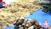 少儿益智早教玩具,小企鹅玩沙子救出旅行青蛙