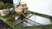 用竹子做了个鱼缸流水摆件,野钓来的鱼儿全部放鱼缸里养,全手工DIY制作,大家觉得怎么样?