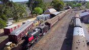 澳大利亚金矿小镇马尔顿的蒸汽火车