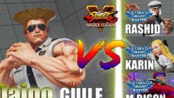 街霸5AEDaigo (Guile) vs Moke (Rashid) & Deshiken (Karin) & CNCITY ENERGY(M.Bison)