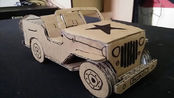 纸板玩具diy,手工制作军用皮卡车,真的很好玩