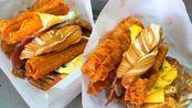 【街头美食】台湾传统早餐 无敌海景馒头+猪排火腿花生蛋  太和豆浆 台湾新北市板桥