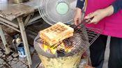 台南府城特色早餐50年来只卖碳烤三明治,焦香土司包进软滑煎蛋