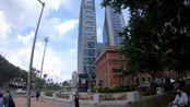 长春解放大路旁,拍一下吉林省第一高楼226米的长春国际金融中心