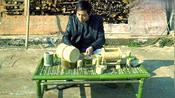 古代汉朝的桌子是怎样的形状?用49根竹子打造古代汉朝楚人竹餐桌
