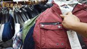 实拍:广州尾货市场的某品牌外套货源才20一件,乡镇摆地摊好卖吗