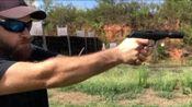安装消音器的.22lr小口径手枪,射击声音小的连耳麦都不用戴