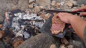 户外炭火煎澳洲纯血和牛M8