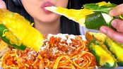 【phan】助眠芝士马苏里拉辣椒和意大利面(脆脆的吃的声音)不说话的吃秀助眠Phan(2020年1月20日7时20分)