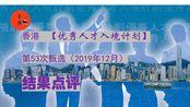 香港声音(第7期)-香港优秀人才入境计划第53次甄选结果点评。近期香港优才申请有什么新的动向和特点