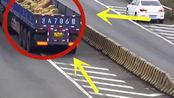 大货车与小轿车同时犯这种低级的错误,驾照直接吊销,24分没了