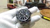 评测讲解 劳力士黑水鬼手表使用说明 怎么调日历日历拆卸表带教程