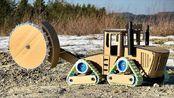 达人用纸板制作履带式战壕挖掘机2代,会比一代更强吗?