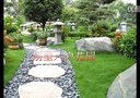 东莞别墅花园,别墅养鱼池制作,假山景观,入户花园