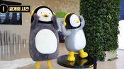 (peng TV)在EBS大厅剪彩的pengsoo和他的可爱雕像