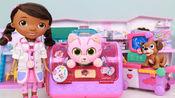 小医师大玩偶小猫猫宠物盒 麦芬医生过家家玩具分享