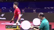 中国新星小将梁靖崑对阵日本吉村和弘,最后一局竟把对手打成11-1