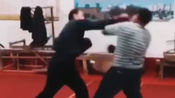 山东冠县查拳实战训练。