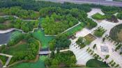 河南平顶山市白龟湖国家湿地公园荷花花海观赏航拍