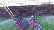 废旧自行车留下来,看牛人是如何变废为宝的,过程实在是太激动了