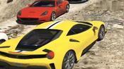 模拟驾驶,开着法拉利去爬山,场面太真实了,豪车就是好开!