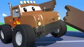 汽车城之拖车汤姆 第3季 第20集 大脚卡车马利从屋顶掉下来了