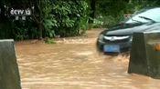 [朝闻天下]江西赣州 暴雨致国道被淹 交通出行受影响