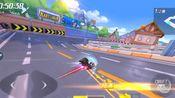 跑跑卡丁车手游城镇高速公路1分45秒48,最高时速290.6km/h