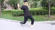 每天坚持原地蝴蝶式张臂+弓箭步,半个月瘦大腿,比去健身房管用