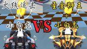 【勋章车】圣金狮王vs【点券车】火线追击,到底是哪个更强呢~QQ飞车手游
