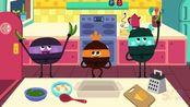 英语动画 3个好朋友一起做豌豆砂锅菜 yum 英语启蒙动画