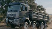 [汽车鉴赏]全新一代曼恩TGS 35.510自卸车的行驶动态 外观与细节展示 驾驶舱展示