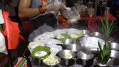 壮小伙街头卖特色小吃,5块3个,中国游客一次买20份都不嫌多!