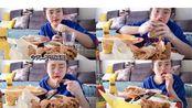 肥宅快乐日吃起来!炸鸡沾芥末真上头/熏肉大饼加各种零食!早上7点点外卖/早餐吃到午餐/今日不减肥