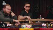 【德州扑克·每天一手牌】两高张空气牌连打两枪诈唬,为了收池也是挺拼的