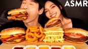 【zach choi】助眠与亚历克斯(双芝士汉堡、不可能的汉堡、洋葱圈、薯条)木桶(2020年1月8日13时45分)