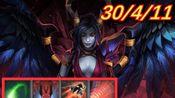 【刀塔2 OMG】毒性攻击+复仇光环+闪烁+超声冲击波=30杀女王