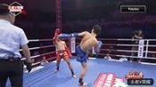 """中国泰拳职业联赛:""""狩猎者""""张景磊三回合完胜小将周强"""