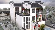 农村房子11米宽,中式徽派小户型