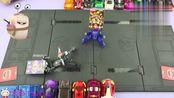 魔幻车神玩具-悍角黄牛与威甲车神