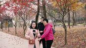 苏州天平山最后一茬枫叶,偶遇热巴小姐姐(误~233)