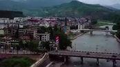 航拍四川雅安大山里的一个小县城,风景优美,厉害了我的国!