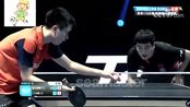 国际乒联钻石联赛新加坡站男单1/8决赛:郑荣植VS梁靖崑,第四局