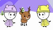 【EK-doodle】Christma圣诞节 | 超可暖心的小动画 | return rudolph the rednose reindeer to santa