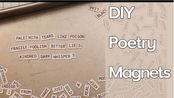 【Junk journal】Nik大神单词素材加软磁制作冰箱贴式素材|DIY Poetry Magnets | TUTORIAL | Craft with Me