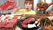 【g-ni】今天做牛肉派对!!灯芯排骨肉还有石板!!烤牛肉吃播~(2019年12月16日18时30分)